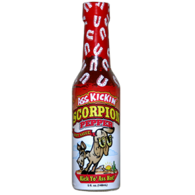Ass Kickin' Scorpion Pepper Hot Sauce 148ml