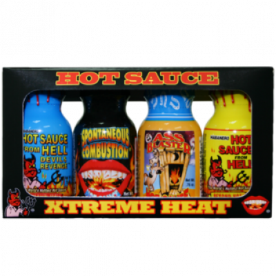 Extreme Hot Sauces Shots 4 pack